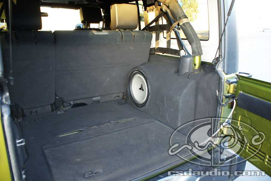 Trunk subwoofer box