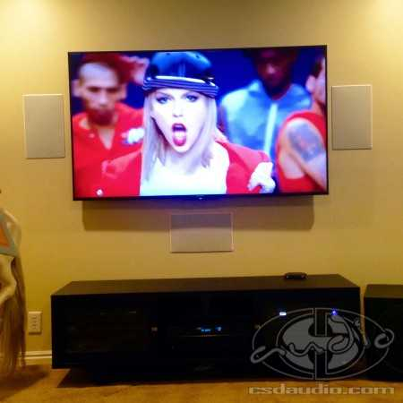 "Sony 65"" 4K TV and Polk In-Wall Speakers"